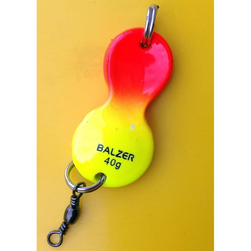 Balzer Plattfisch Blinker Buttlöffel Vorfach gelb